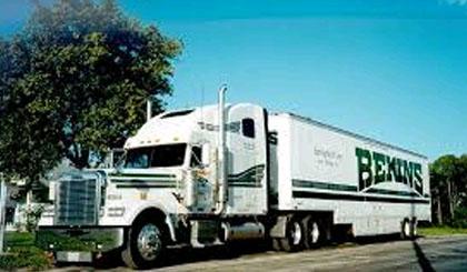 Bekins movers tranporting